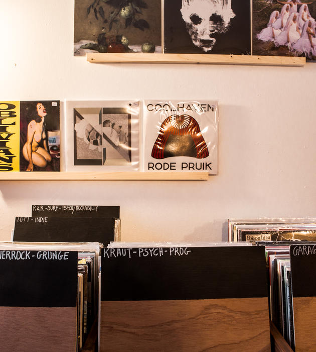 Zoezoe records store in Ghent